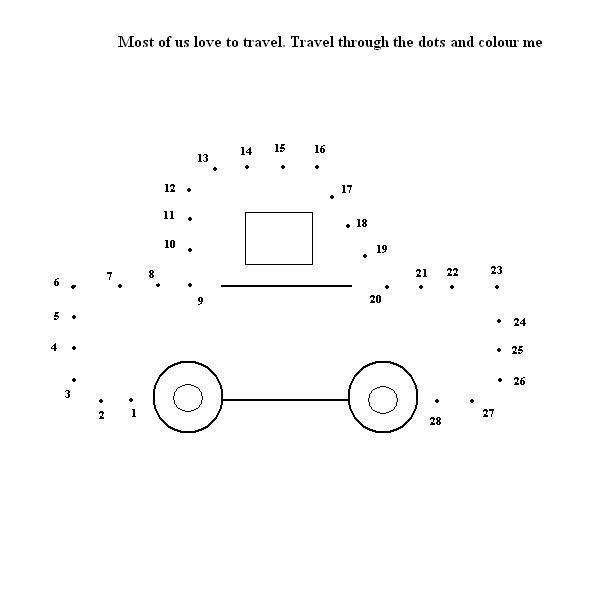 dot to dot puzzle car count 1 to 28