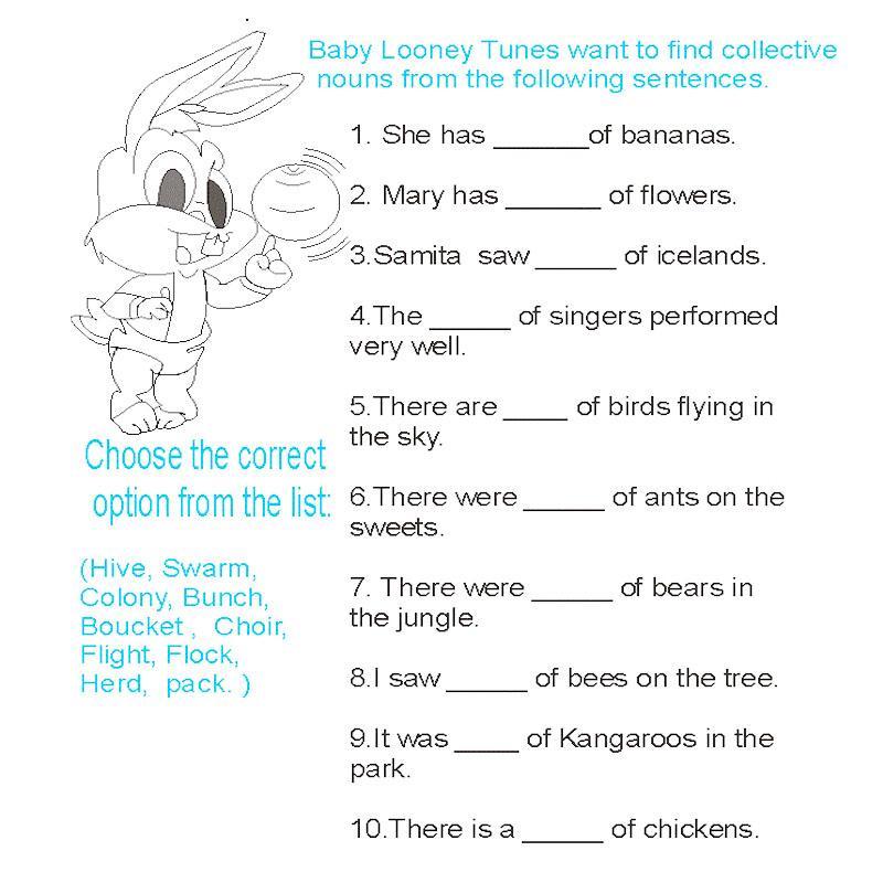 Collective nouns – Collective Nouns Worksheets