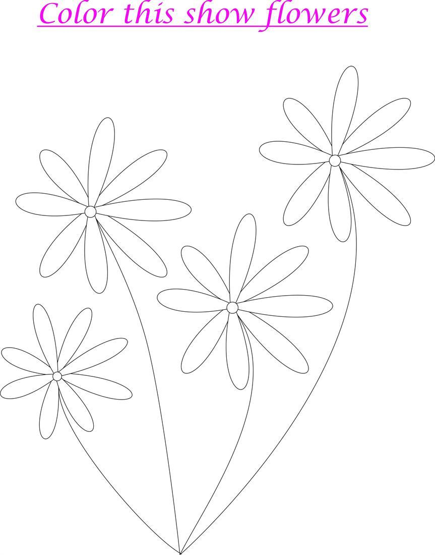 Flowers Coloring page for kids
