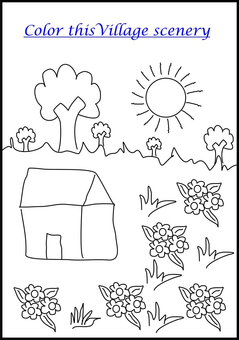 Nice Scenery Coloring Pages For Kids Photo - Resume Ideas - namanasa.com