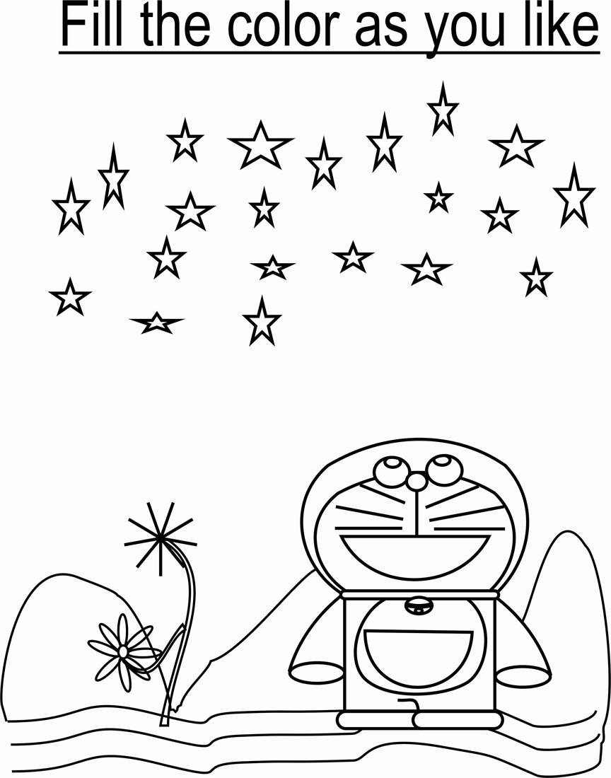 Doraemon Coloring Page For Kids