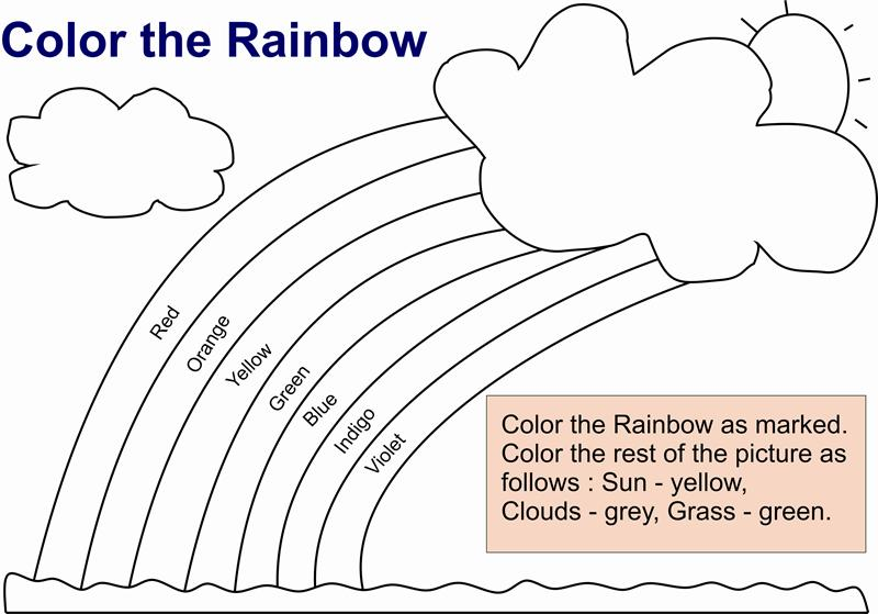 rainbow coloring pages for kids - Colour Worksheet For Kids