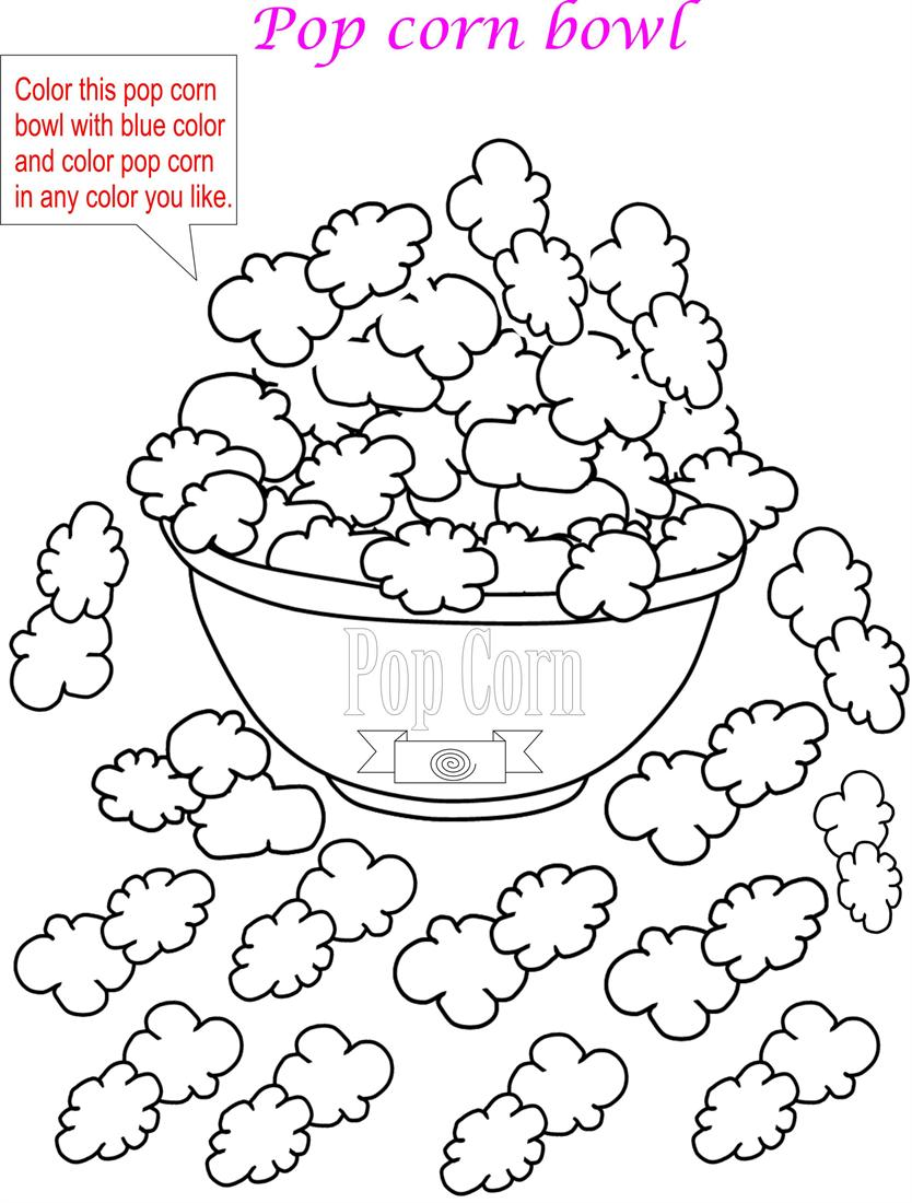 coloring pages popcorn - photo#15