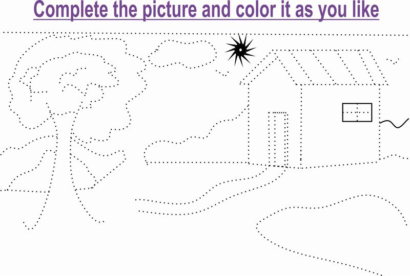 Beauty of nature coloring page  Dot to Dot Worksheets for kids of all