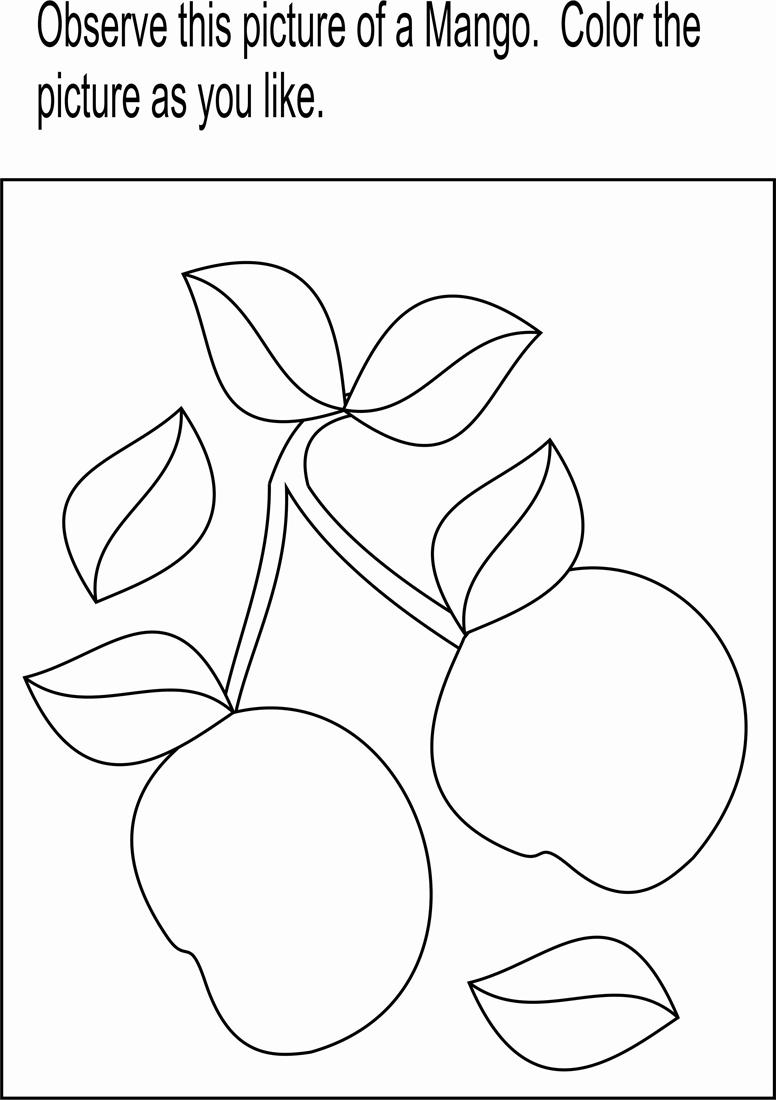 mango coloring page printable for kids