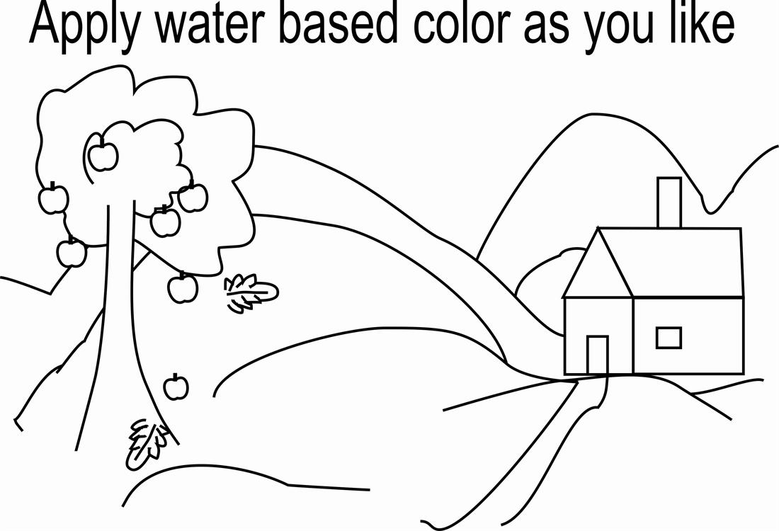 scenery coloring page printable for kids - Printable Scenery Coloring Pages