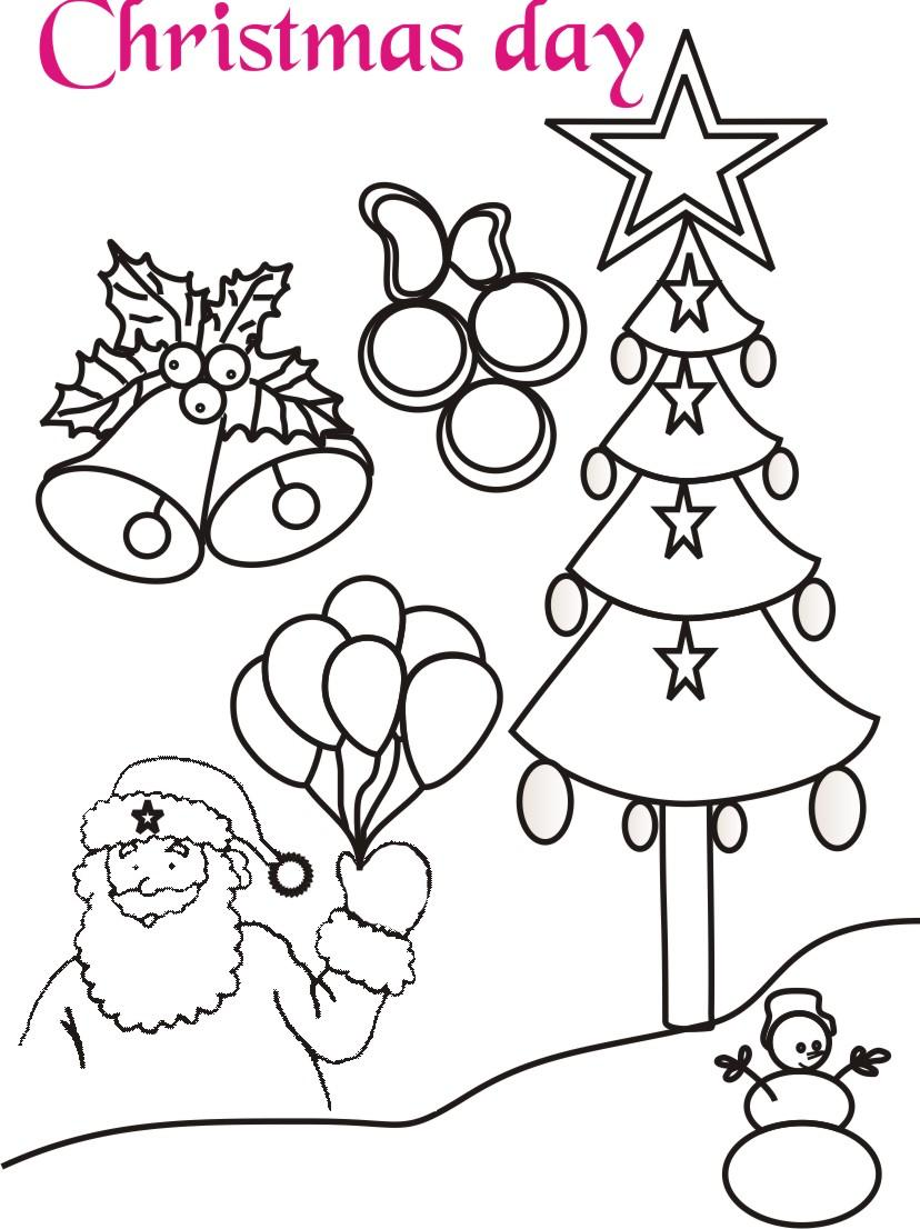 christmas celebration coloring printable page for kids