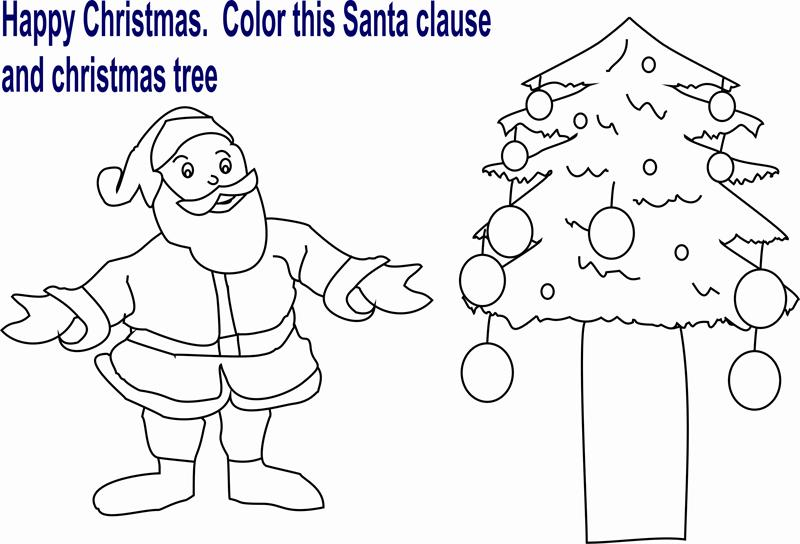 Santa Claus coloring printable page for kids