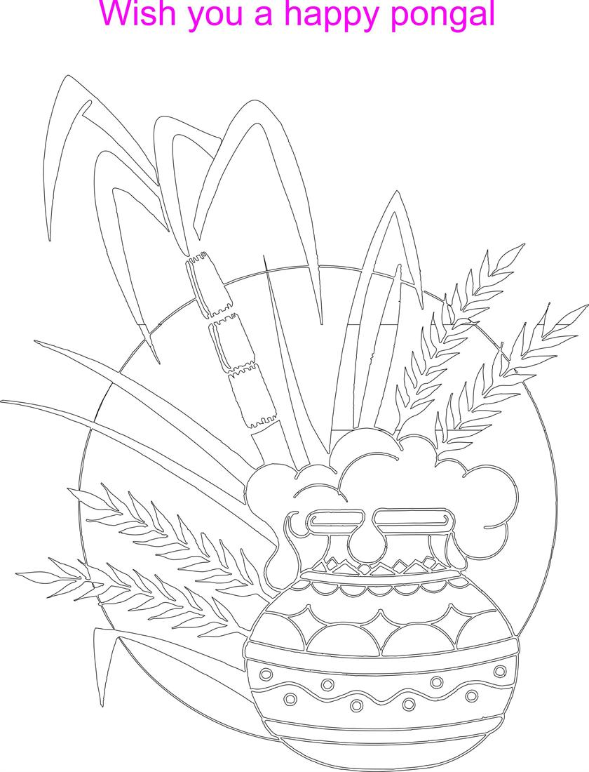 Pongal Festival Coloring Printable Page For Kids Pongal Coloring Pages