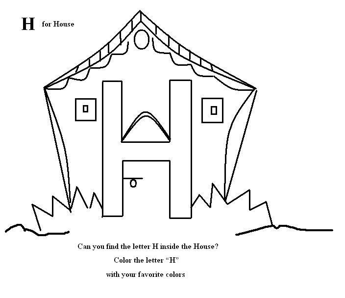 h coloring pages for kids - photo #40