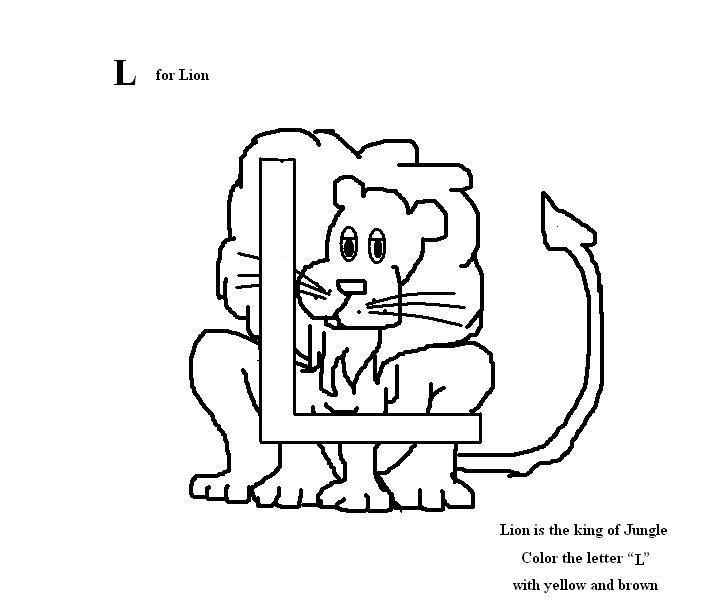 Letter L Coloring Pages Preschool : All worksheets » l for preschool printable