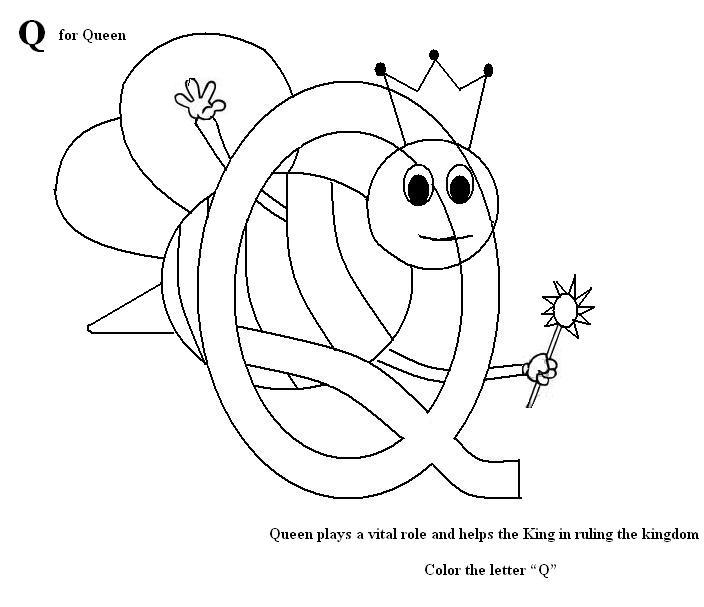 q coloring pages for kids - photo #17