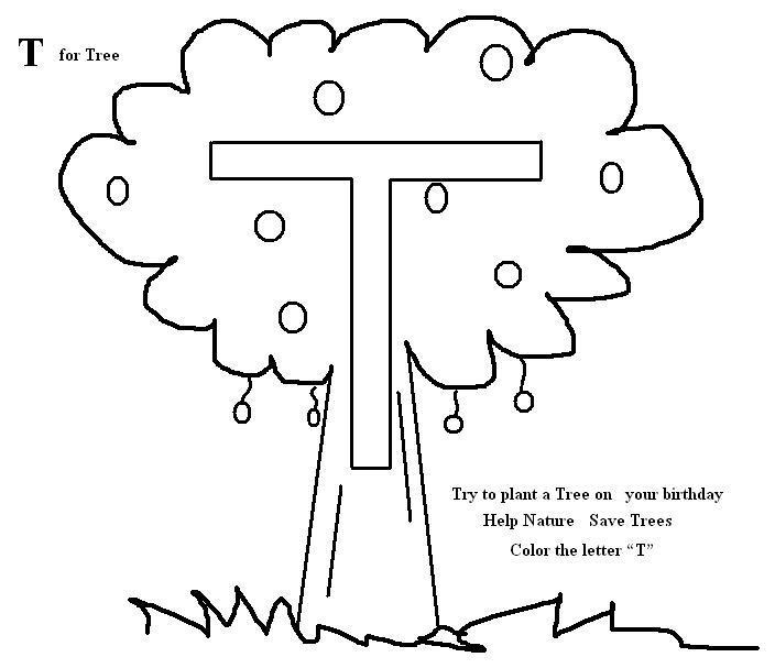 t coloring pages preschool - photo #9