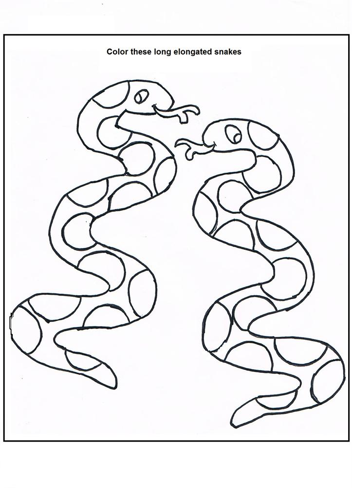 Snakes Coloring Page Printable For Kids