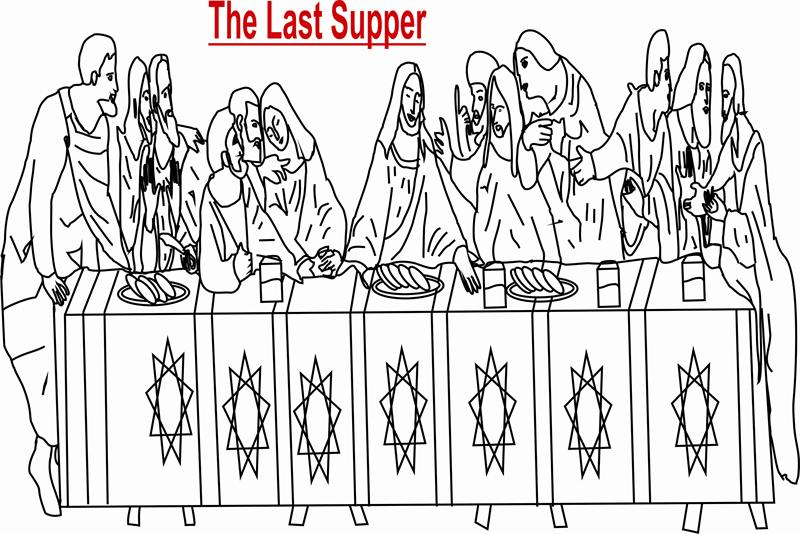 The Last Supper coloring printable page for kids