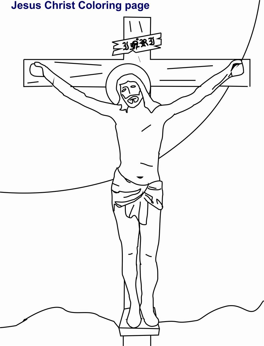 Jesus Christ Coloring Printable Page For Kids