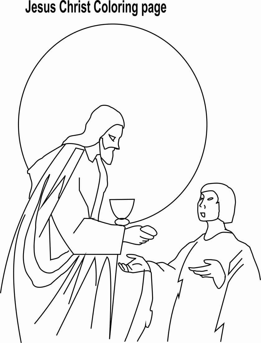 Printable coloring pages last supper - Printable Coloring Pages Last Supper 56