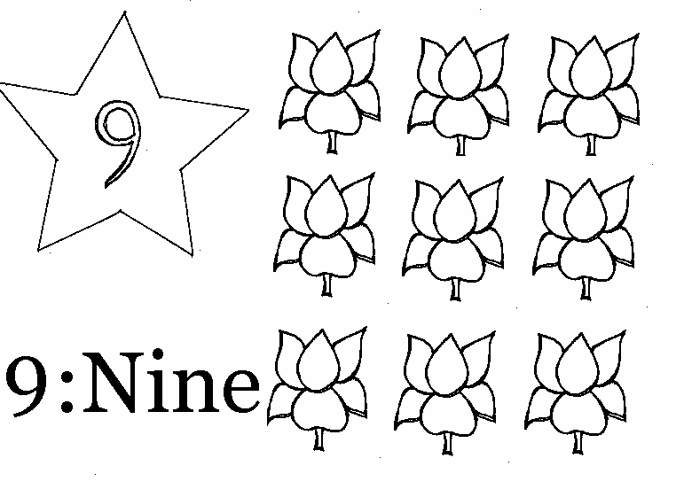 number 9 coloring pages.  coloring page of number 9