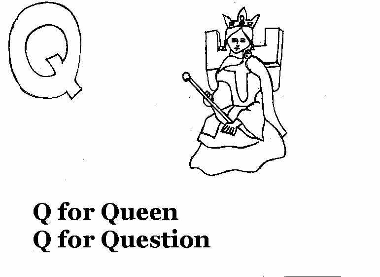 q coloring pages for kids - photo #34