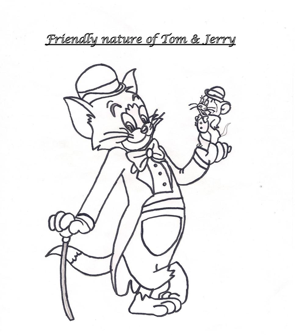 Free draw jerry coloring pages for Tom e jerry da colorare