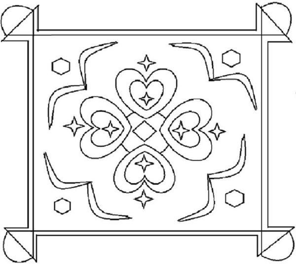 rangoli coloring printable page 9 for kids