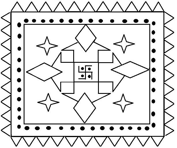 Rangoli Coloring Printable Page For Design