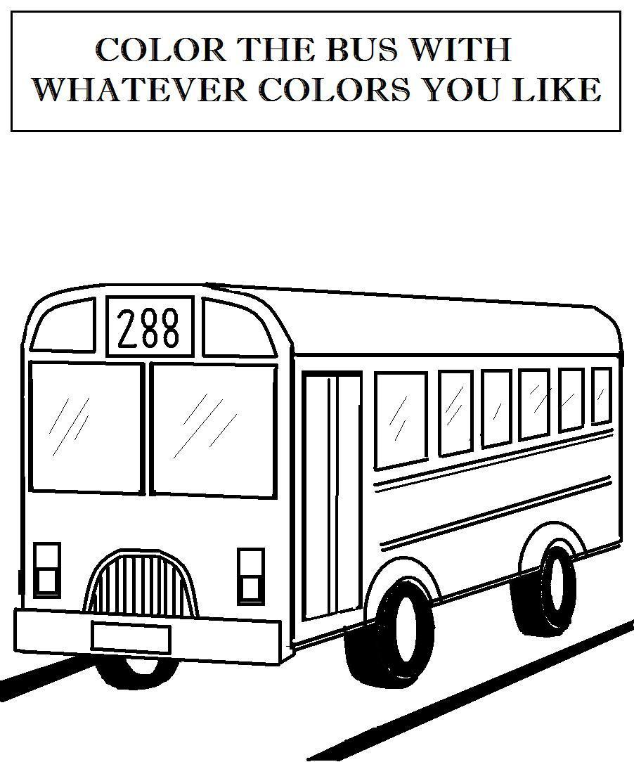 bus coloring page car
