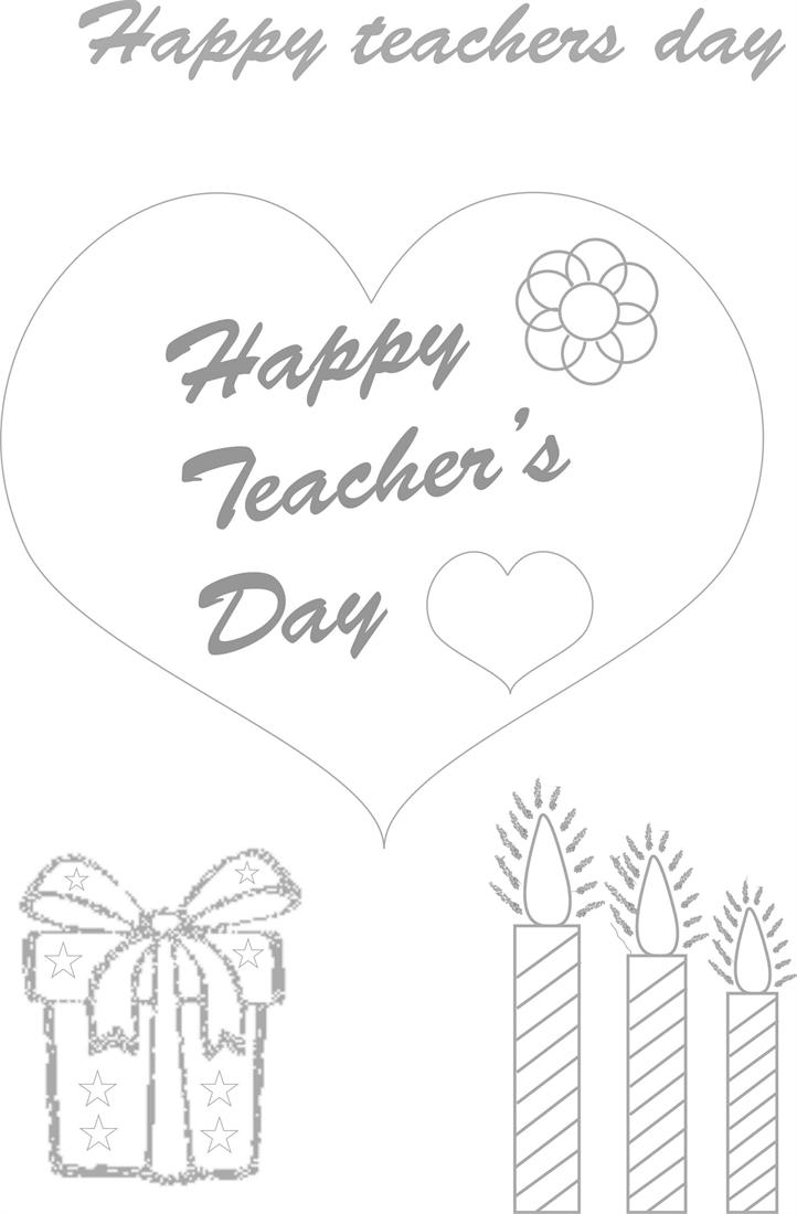 Teachers day coloring worksheets for kids 1