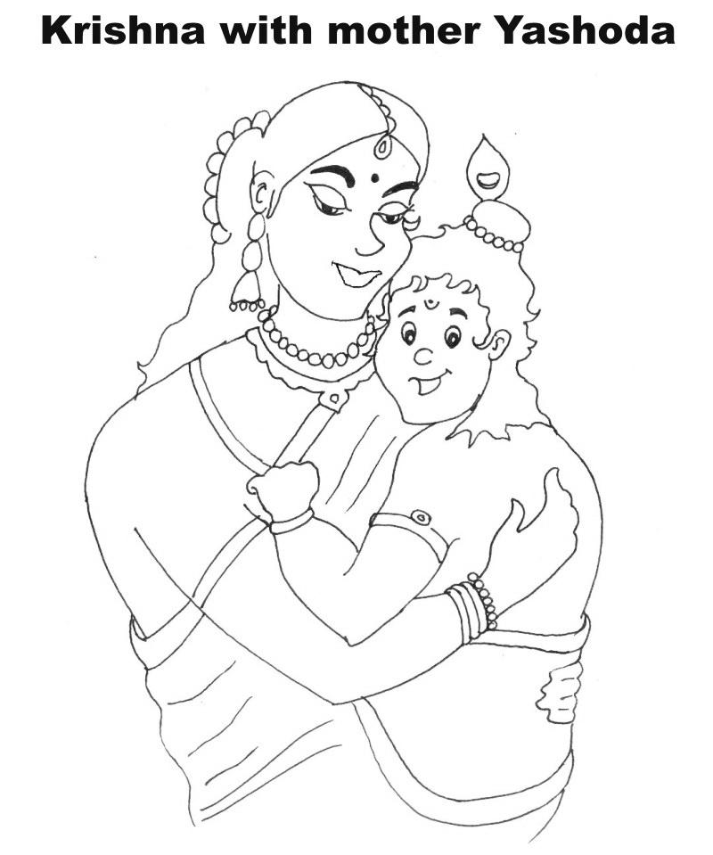 Free Lord Krishna Drawing Coloring Pages Lord Krishna Coloring Pages