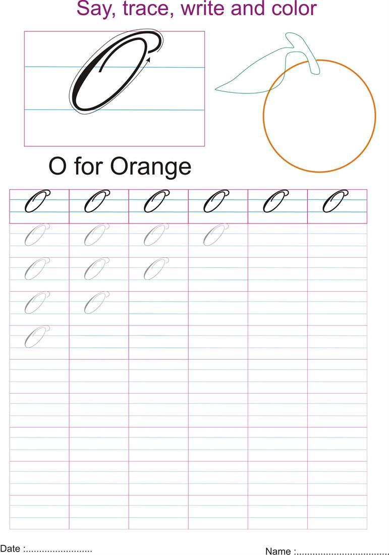 Worksheet Cursive O cursive captial letter o worksheet