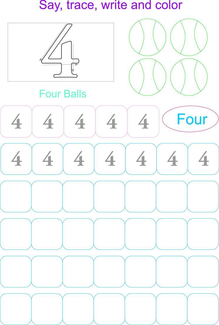 Number Writing Worksheet 4