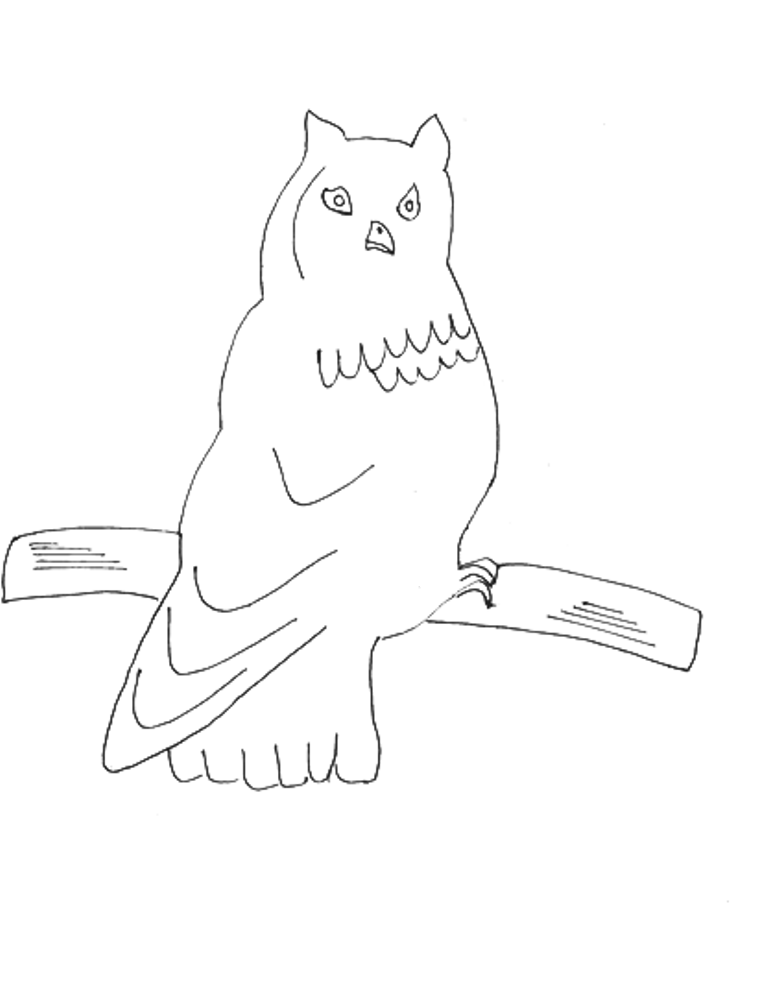 Owl Printable Coloring Page For Kids