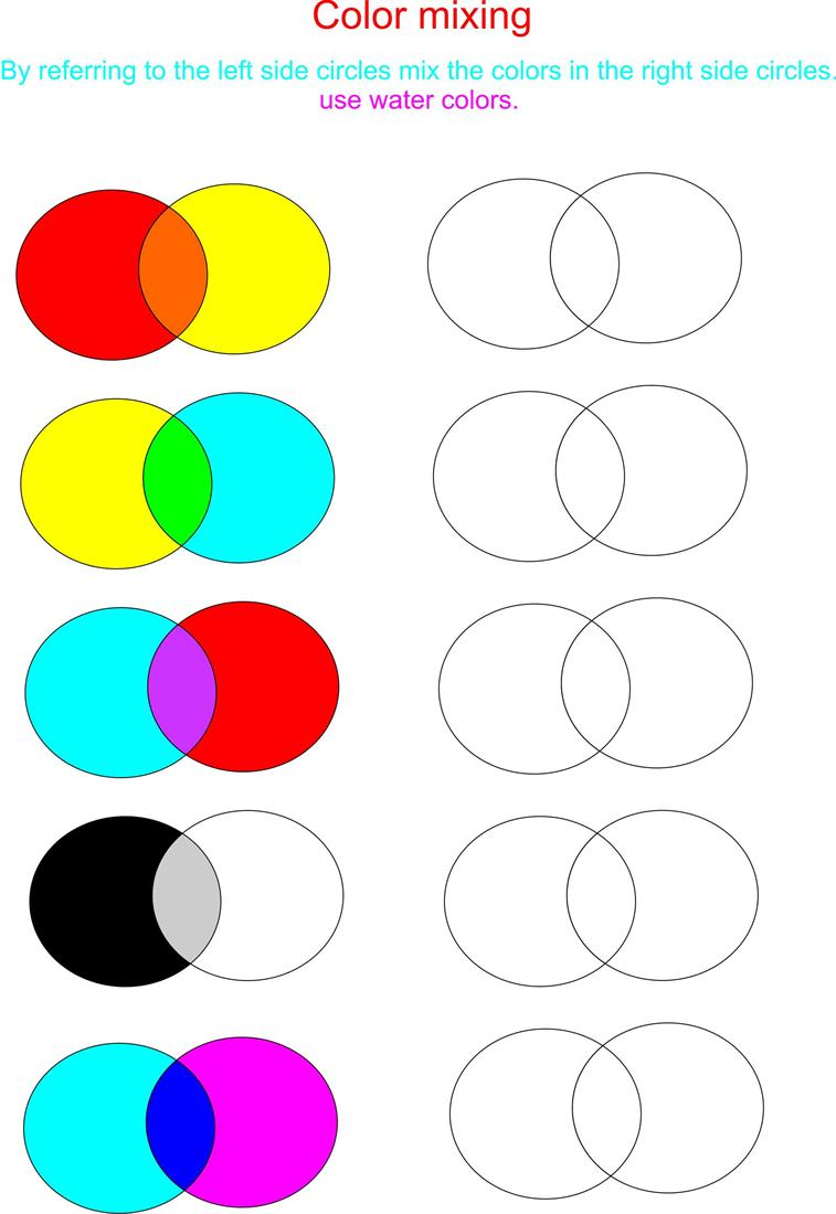 Color mixing is really fun Try here – Color Mixing Worksheet