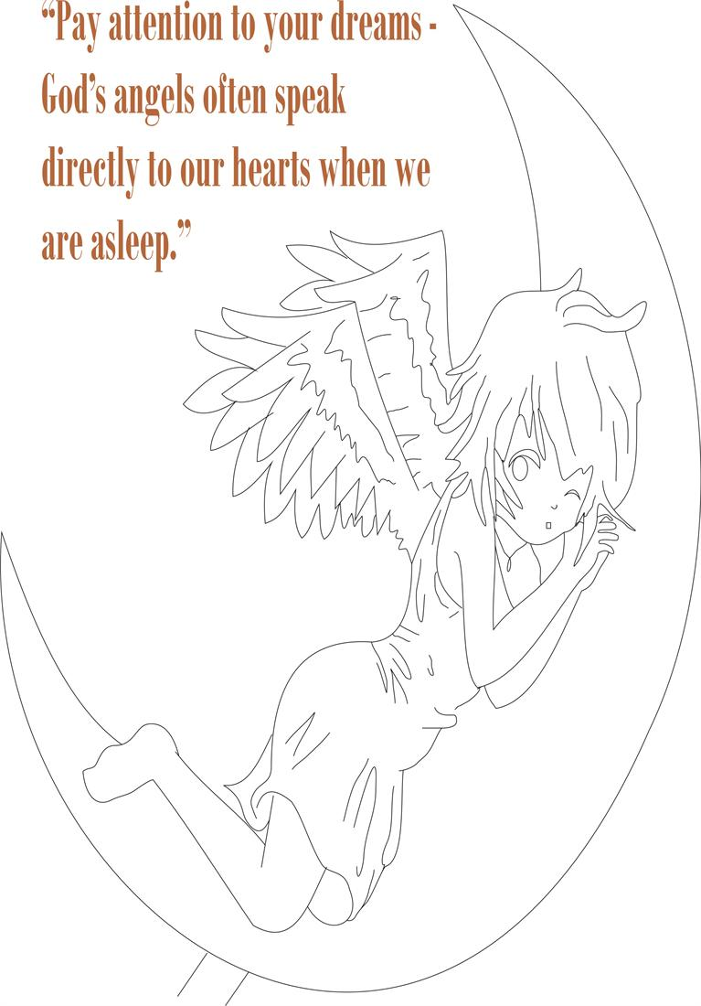 Angel Coloring Pages Pdf : Angel printable coloring page for kids