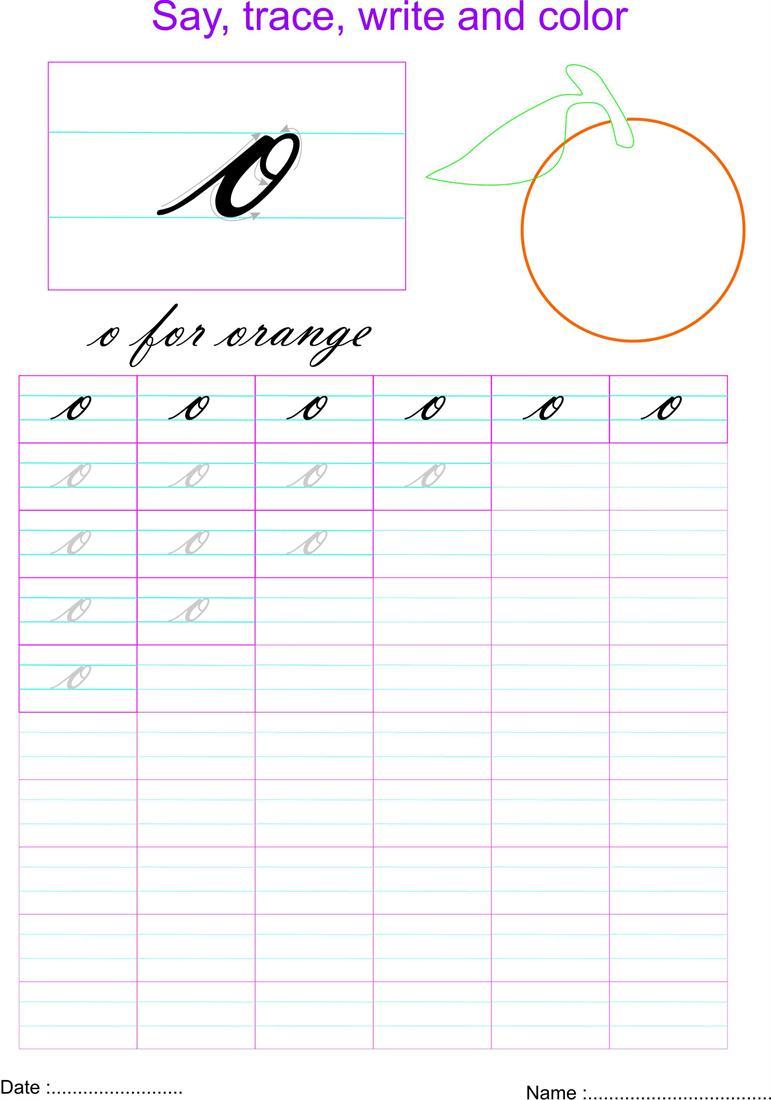 Worksheet Cursive O Wosenly Free Worksheet – Custom Cursive Worksheets
