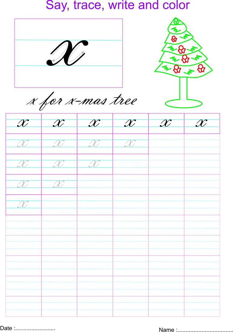 worksheet Letter X Worksheet cursive small letter x worksheet
