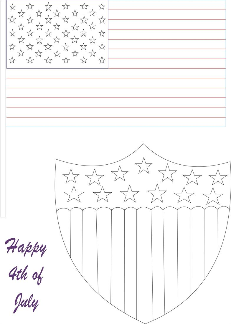 Fourth Of July Coloring Pages Pdf : July th printable coloring page for kids