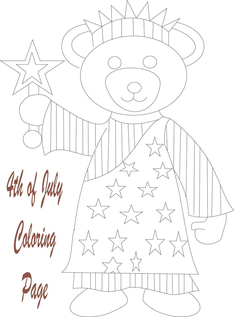 July 4th printable coloring page for kids 2