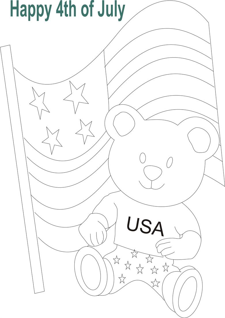 july 4th printable coloring page for kids 5