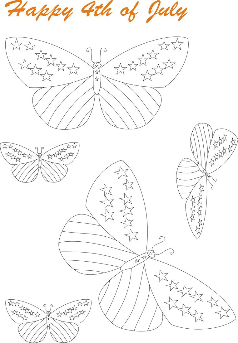 July 4th printable coloring page for kids 6