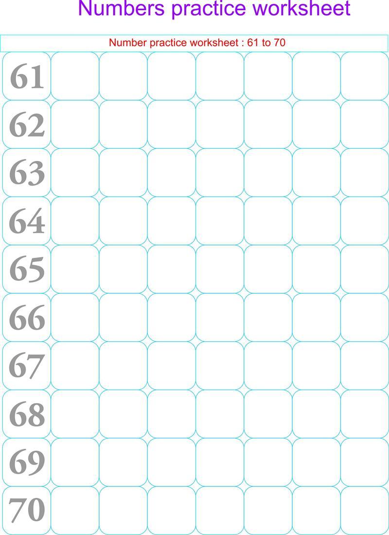number worksheets 1 30