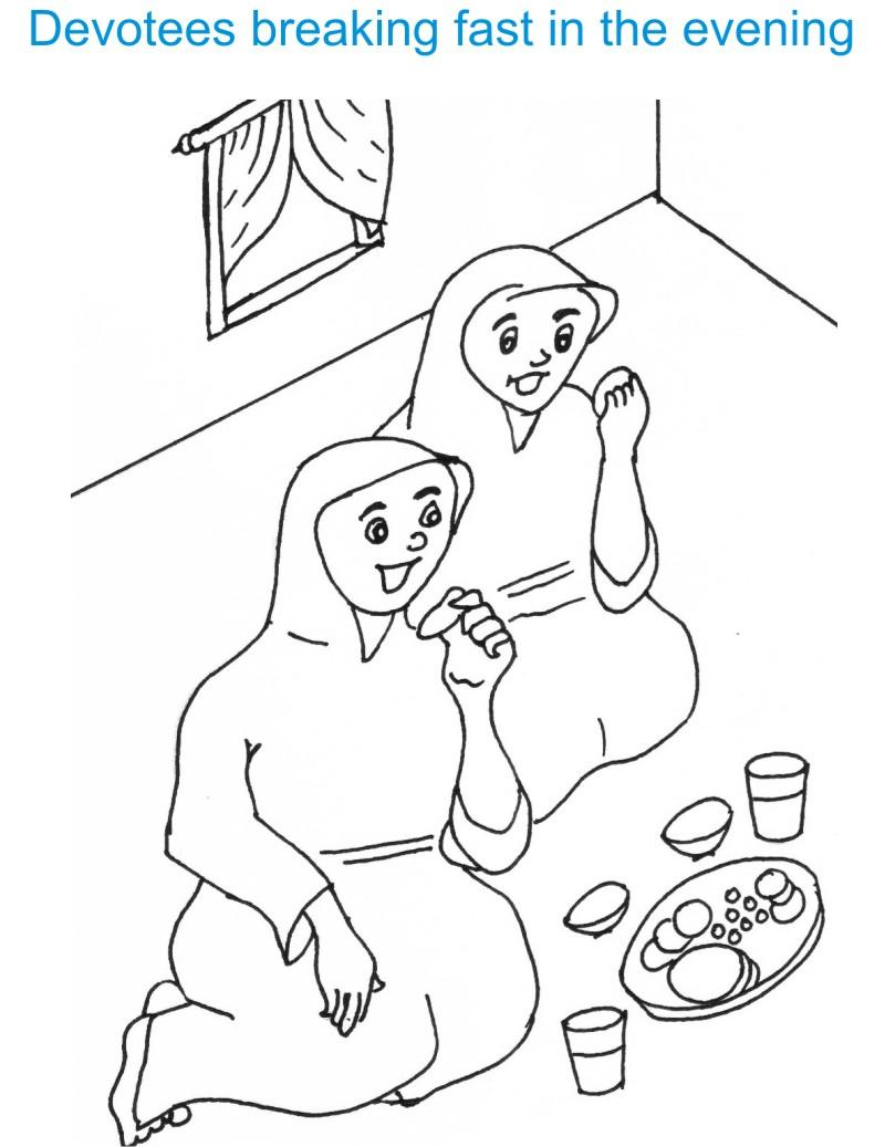 Eid colouring in sheets - Eid Ul Fitr Coloring Pages
