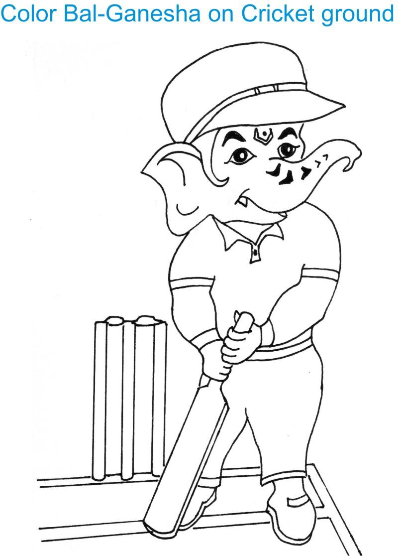 Ganesh Chaturthi coloring page for kids 5