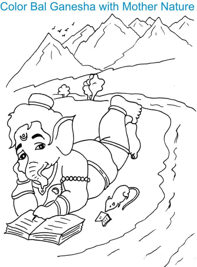 Ganesh Chaturthi coloring page for kids 6