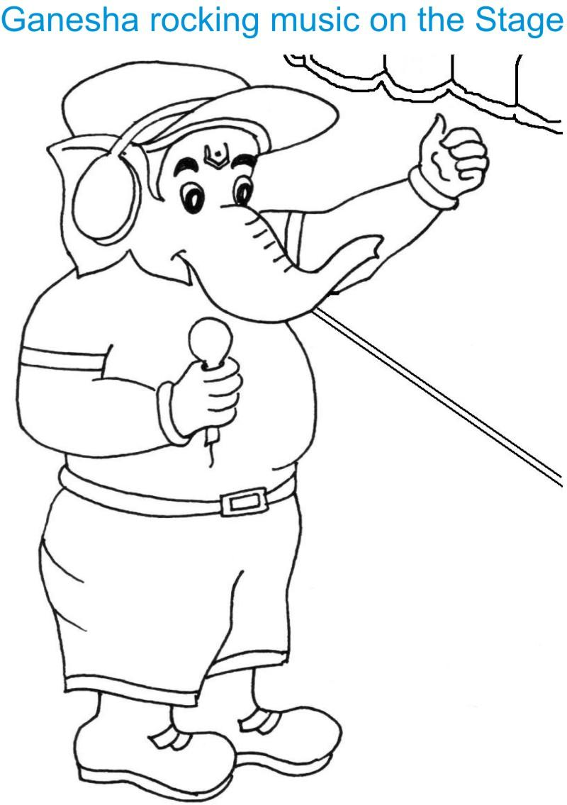 ganesh chaturthi coloring page for kids 9