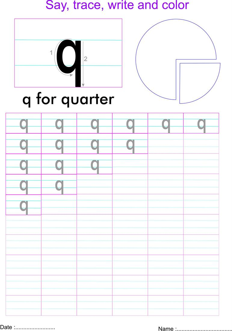 worksheet Letter Q Worksheet english small letter q worksheet