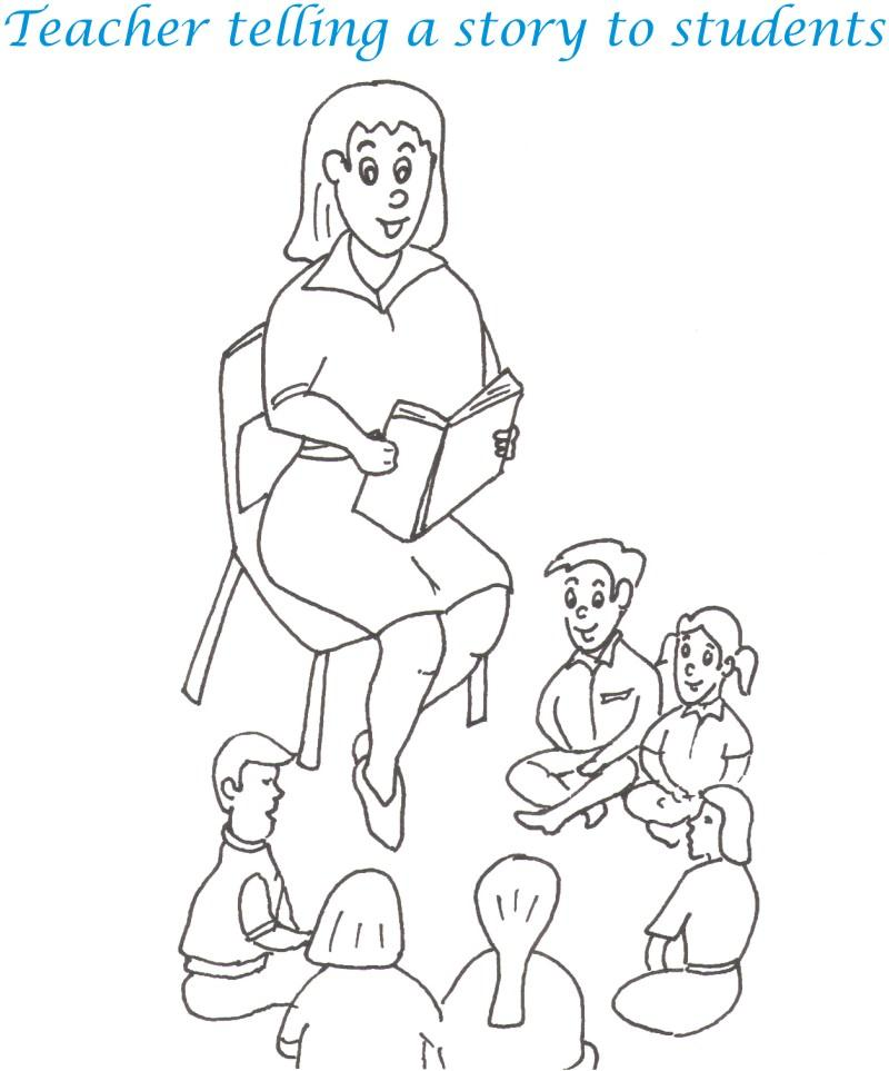 coloring pages of a teacher - photo#26