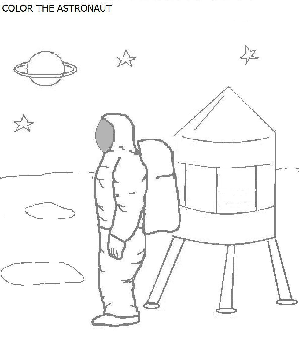 Space Coloring Pages Pdf : Astronauts with space shuttle coloring page pics about
