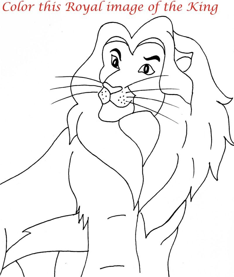 Lion family printable coloring page for kids 3