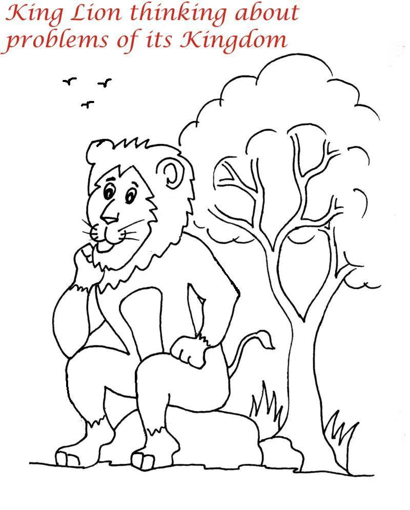 Lion Family printable coloring page for kids 9